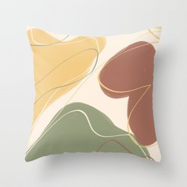 Abstract art indie Throw Pillow