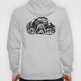 Black Lab - front view Hoody