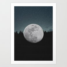 The Moon Landed Art Print