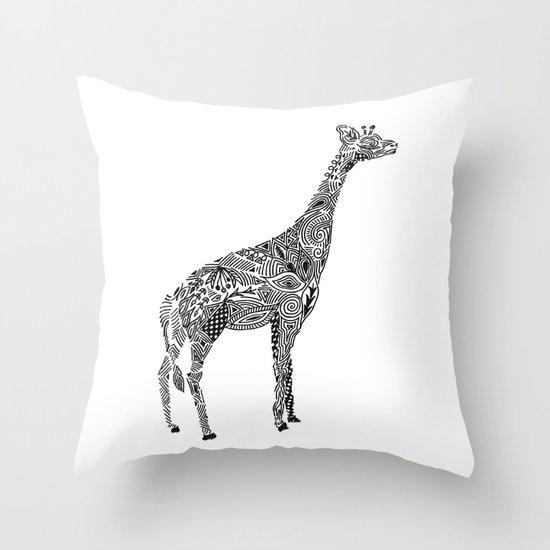 Designer Giraffe Throw Pillow
