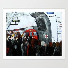 London Underground Part 3, England Acrylic On Canvas Board Fine Art Art Print
