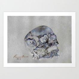 """24 Karat Cranium 2"" Art Print"