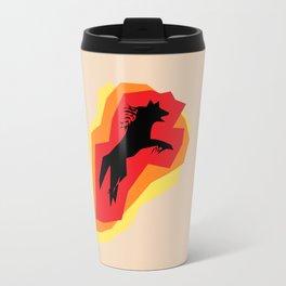 Fire Wolf Travel Mug