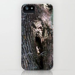 Ghost Face In Tree iPhone Case
