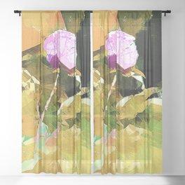 Single Rose Sheer Curtain