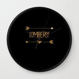 Kimberly Name Text Wall Clock