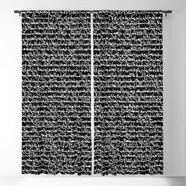 Ancient Arabic Script // Black Blackout Curtain