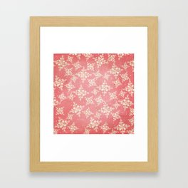 Red and Gold Snowflakes 1 Framed Art Print