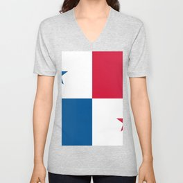Panama Flag Unisex V-Neck