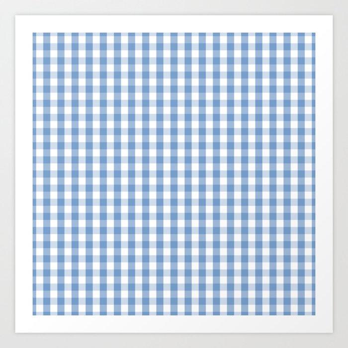 Classic Pale Blue Pastel Gingham Check Kunstdrucke