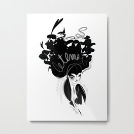 This head I hold - Emilie Record Metal Print