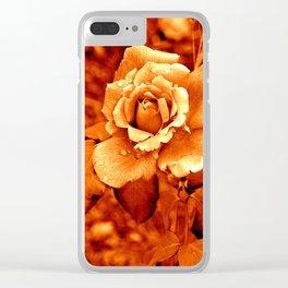 Rose Orange Flower Nature Digital manipulation Clear iPhone Case