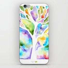 Rainbow tree life iPhone Skin
