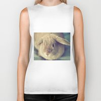 bunny Biker Tanks featuring Bunny by Jessica Torres Photography
