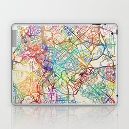 Rome Italy Street Map Laptop & iPad Skin