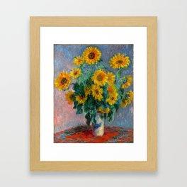 Bouquet of Sunflowers - Claude Monet Framed Art Print