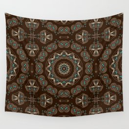 Art Deco number 7. Round ornament. Wall Tapestry