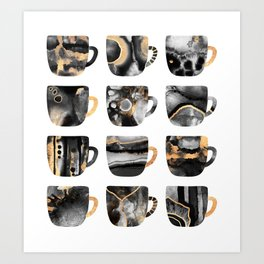 My Favorite Coffee Cups 2 Art Print