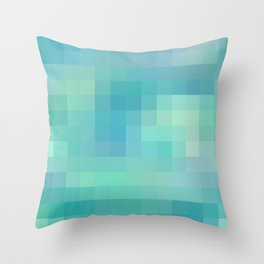 Re-Created Colored Squares No. 17 by Robert S. Lee Throw Pillow