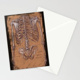 Jesse Young's Human Anatomy Drawing of Skeletal Structure of the Torso (Circa 2005) Stationery Cards