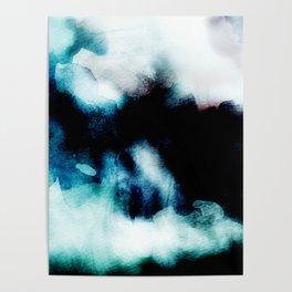 UNBORN - Stylish cobalt watercolor mixture Poster