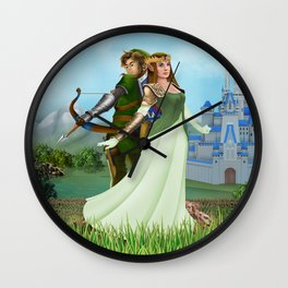 Zelda and link iPhone 4 5 6 7 case, pillow case, mugs and tshirt Wall Clock