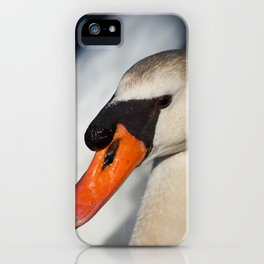 Portrait Of a Swan iPhone Case