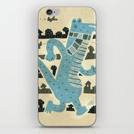 Gator Goes for a Stroll iPhone Skin