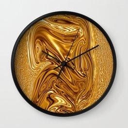 Curvaceous 3 ......flowing liquid color....original art Wall Clock