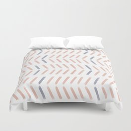 Chevron Pattern in Peach and Purple Duvet Cover