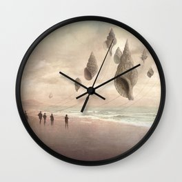Floating Giants Wall Clock