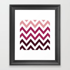 PINK FADE CHEVRON Framed Art Print