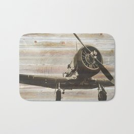 Old airplane 2 Bath Mat