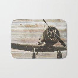 Old airplane 2 Bath Mat