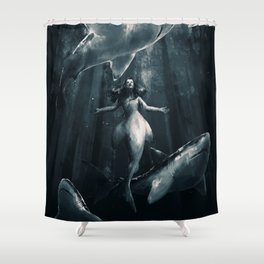 Hello my old friends Shower Curtain