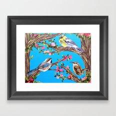 Hey friends Framed Art Print