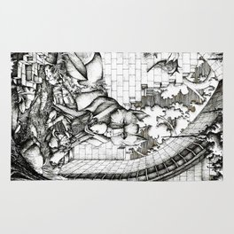 Lovers in the ruins Rug