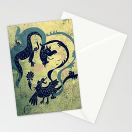 myth of dragon and the Phoenix Stationery Cards