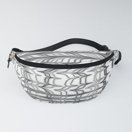 black and white ebru Fanny Pack