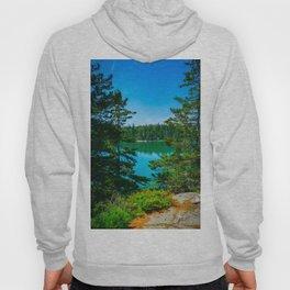 Acadia National Park Hiking Trail Print Hoody