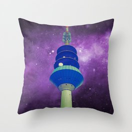 Out Of The Ordinary - Galactic Purple Throw Pillow