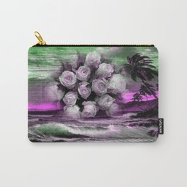 Sea and roses in purple Carry-All Pouch