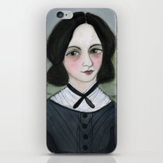 Emily Bronte and her Wuthering Heights iPhone & iPod Skin