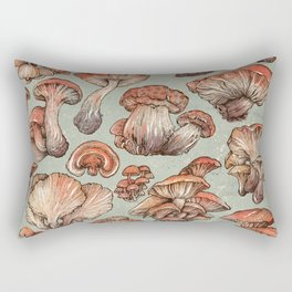 A Series of Mushrooms Rectangular Pillow