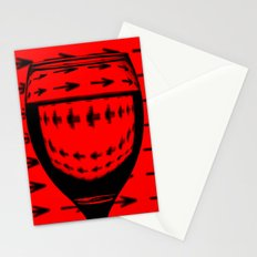 Red With Arrows Stationery Cards