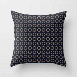 Pattern Formes Spirales Bleu/Doré Throw Pillow