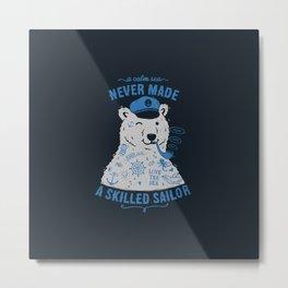 Sailor Tattooed Bear Metal Print