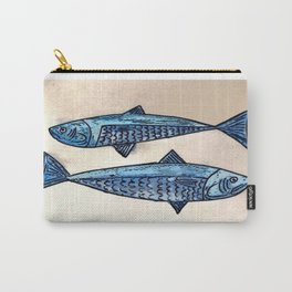 Blue fishes- Poissons bleus Carry-All Pouch