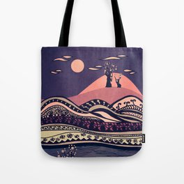 Psychedelic mountains (colour option) Tote Bag