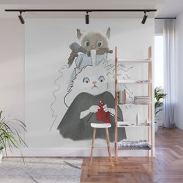 1015 Knitting Cat - Salon Wall Mural